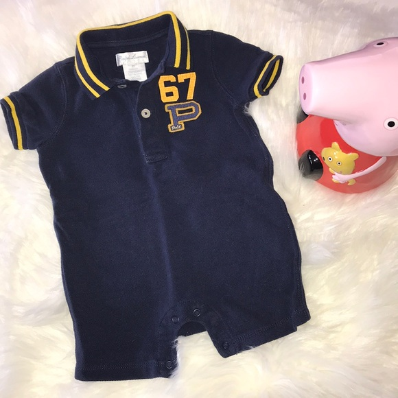 3eac8dc5 Ralph Lauren One Pieces | Baby Cotton Rugby Shortall | Poshmark